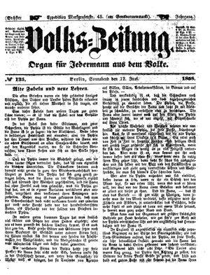Volks-Zeitung vom 12.06.1858