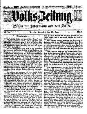 Volks-Zeitung vom 19.06.1858