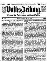 Volks-Zeitung (23.06.1858)