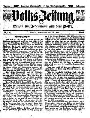Volks-Zeitung vom 26.06.1858