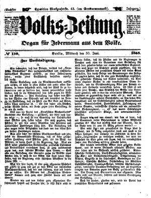 Volks-Zeitung vom 30.06.1858