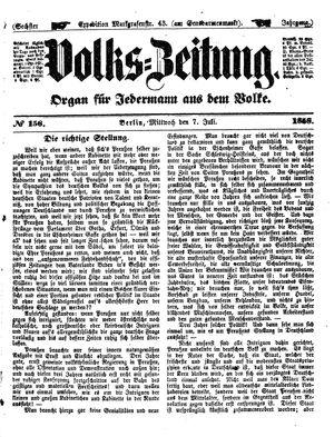 Volks-Zeitung vom 07.07.1858