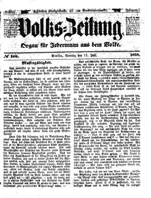 Volks-Zeitung on Jul 11, 1858