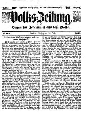 Volks-Zeitung vom 13.07.1858