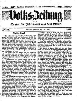 Volks-Zeitung vom 14.07.1858
