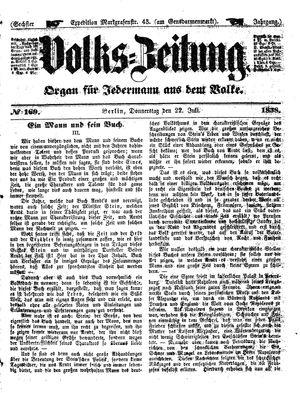 Volks-Zeitung vom 22.07.1858