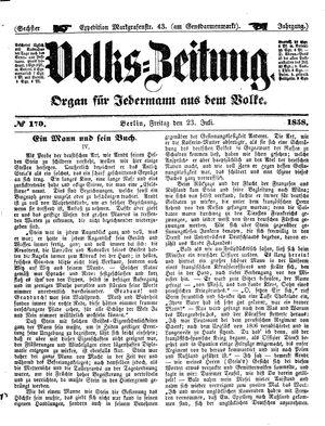 Volks-Zeitung vom 23.07.1858
