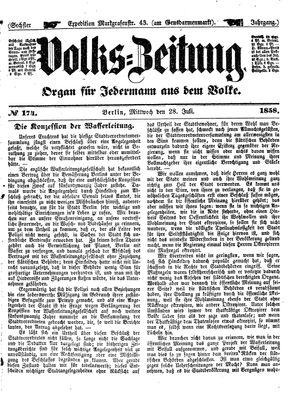 Volks-Zeitung vom 28.07.1858