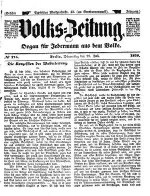 Volks-Zeitung vom 29.07.1858