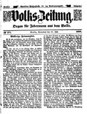 Volks-Zeitung vom 31.07.1858