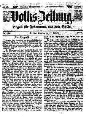 Volks-Zeitung on Aug 10, 1858