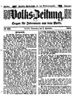 Volks-Zeitung vom 02.09.1858
