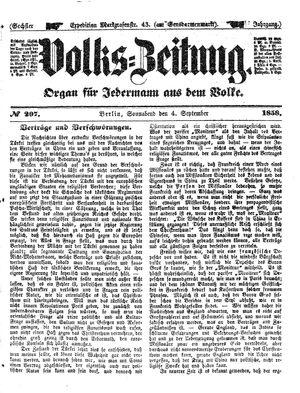 Volks-Zeitung vom 04.09.1858