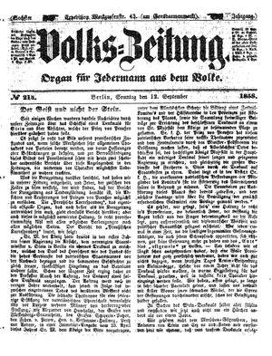 Volks-Zeitung vom 12.09.1858