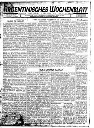Argentinisches Wochenblatt vom 10.10.1942