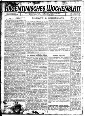 Argentinisches Wochenblatt vom 07.11.1942