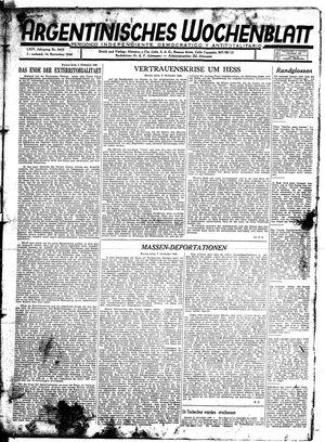 Argentinisches Wochenblatt vom 14.11.1942