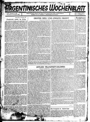 Argentinisches Wochenblatt vom 21.11.1942