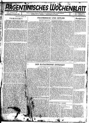 Argentinisches Wochenblatt vom 12.12.1942
