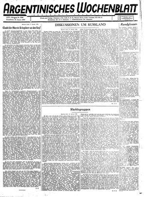 Argentinisches Wochenblatt on Jan 15, 1944