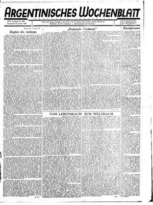 Argentinisches Wochenblatt vom 22.01.1944