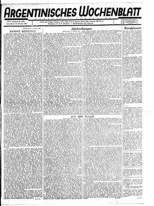 Argentinisches Wochenblatt vom 19.02.1944