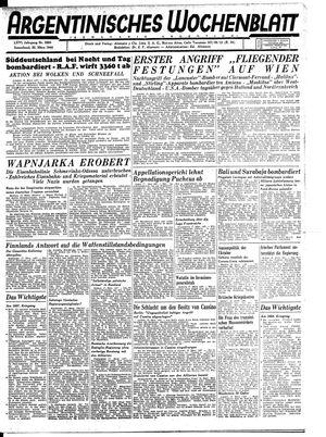 Argentinisches Wochenblatt vom 25.03.1944