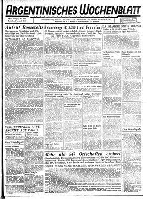 Argentinisches Wochenblatt vom 01.04.1944