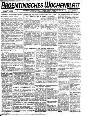 Argentinisches Wochenblatt vom 08.04.1944