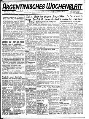 Argentinisches Wochenblatt vom 22.04.1944