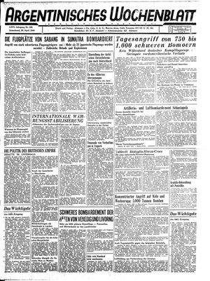 Argentinisches Wochenblatt vom 29.04.1944