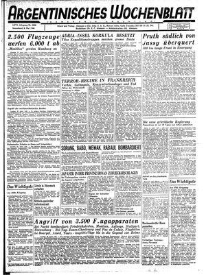 Argentinisches Wochenblatt vom 06.05.1944