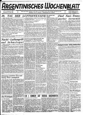 Argentinisches Wochenblatt vom 13.05.1944