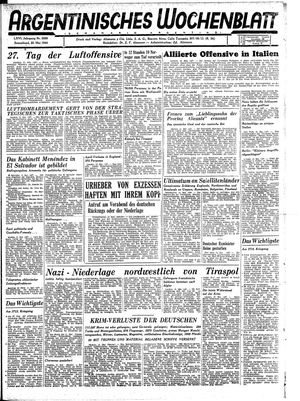 Argentinisches Wochenblatt on May 20, 1944