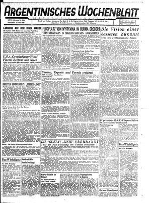Argentinisches Wochenblatt vom 27.05.1944
