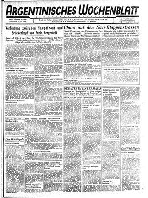 Argentinisches Wochenblatt vom 03.06.1944
