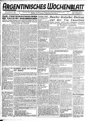 Argentinisches Wochenblatt vom 10.06.1944