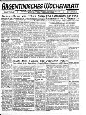 Argentinisches Wochenblatt vom 17.06.1944