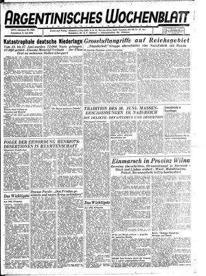 Argentinisches Wochenblatt on Jul 8, 1944