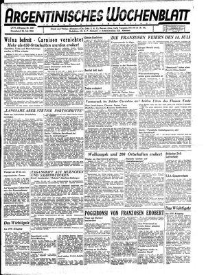 Argentinisches Wochenblatt vom 22.07.1944