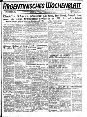 Argentinisches Wochenblatt vom 05.08.1944