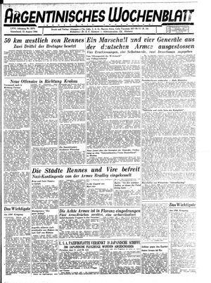 Argentinisches Wochenblatt vom 12.08.1944