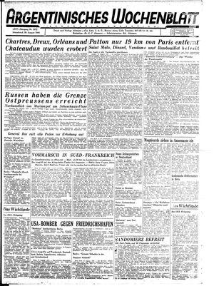 Argentinisches Wochenblatt vom 26.08.1944