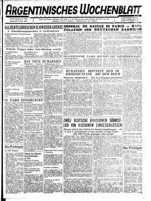 Argentinisches Wochenblatt vom 02.09.1944