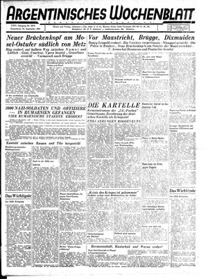 Argentinisches Wochenblatt vom 16.09.1944