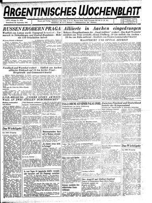 Argentinisches Wochenblatt vom 23.09.1944