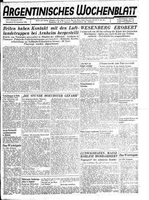 Argentinisches Wochenblatt vom 30.09.1944