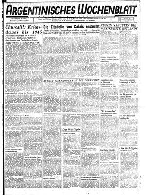 Argentinisches Wochenblatt vom 07.10.1944