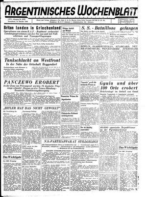 Argentinisches Wochenblatt vom 14.10.1944