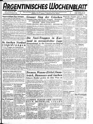Argentinisches Wochenblatt vom 21.10.1944